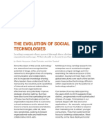Evolution of Social Technologies
