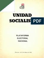 1989 - Unidad Socialista Plataforma Electoral Nacional