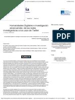 Humanidades Digitales e investigación americanista