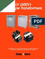 FP 600V Transformer Catalog