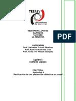 Planeacion Didactica en Prosa
