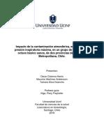 Impacto de la contaminación atmosférica, en valores de presión inspiratoria máxima, en un grupo de escolares de octavo básico sanos, de dos provincias de la Región Metropolitana, Chile.