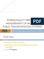 INTERMODALITY PERFORMANCE MEASUREMENT OF MULTIMODAL PUBLIC TRANSPORTATION SYSTEMS Makarand_Gawade