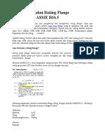 Cara Mengetahui Rating Flange Berdasarkan ASME B16