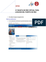 Creacion de Tarjeta de Red Virtual