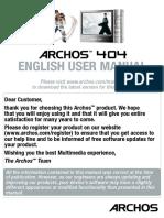 English - User Manual - Archos 404 - V2.2