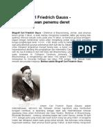 Biografi Gauss