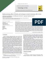 Efecto Radiosensibilizador de Ácido Ferúlico en Las Células de Carcinoma Cervical Humano in Vitro, AG