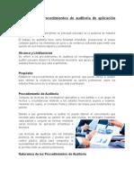Boletín 5010 Procedimientos de Auditoria de Aplicación General