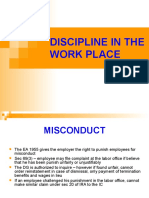 Discipline in the Work Place