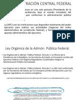 La Administración Central Federal