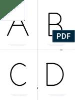 Alphabet Upper Case b&w