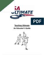 Sports Ultimate, Teaching ultimate an Educators Guide