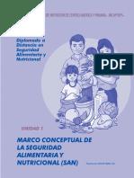 Diplomado SAN - Unidad 1 Marco Conceptual de La Seguridad Alimentaria y Nutricional (San)