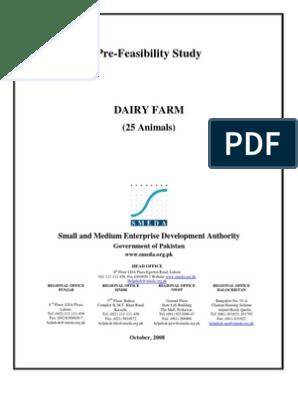 SMEDA Dairy Farm (25 Animal) | Dairy Cattle | Dairy Farming