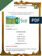 DEBER N:14 Informe de Excel
