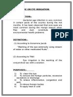 Demo Eye Irrigation