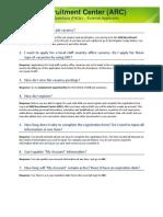ARC FAQ External Applicants