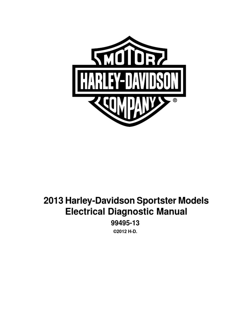 Harley Davidson 2013 Sportster Electrical Diagnostic