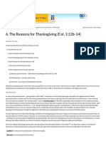 6. the Reasons for Thanksgiving (Col. 1_12b-14) _ Bible