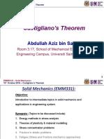 20161012 - Castigliano Theorem