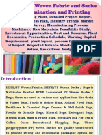 HDPE / PP Woven Fabric and Sacks with Lamination and Printing, Manufacturing Plant, Detailed Project Report, Profile, Business Plan, Industry Trends, Market Research, Survey, Manufacturing Process, Machinery, Raw Materials, Feasibility Study, Investment Opportunities, Cost and Revenue, Plant Economics, Production Schedule, Working Capital Requirement, plant layout, process flow sheet, Cost of Project, Projected Balance Sheets, Profitability Ratios, Break Even Analysis