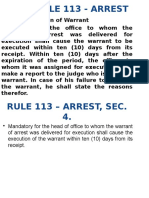 Powerpoint Presentation for Rule 113 - Arrest