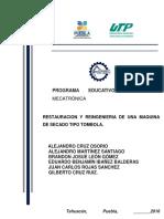 Restauracion y Reingenieria de Una Secadora Industrial Tipo Tombola.