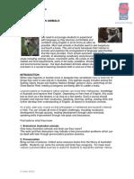 Home Tutor Scheme Lesoon Plan Australian Animals