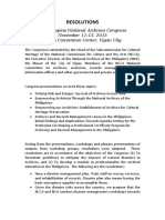 4th Philippine National Archives Congress (2015) RESOLUTIONS