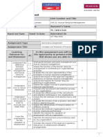 Human Resource Management _ Assignment Brief Lo1,Lo2,Lo3,Lo4