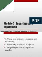 Module 3 - Ensuring Safe Injections