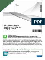 Urogynecology and Reconstructive Pelvic Surgery 215507