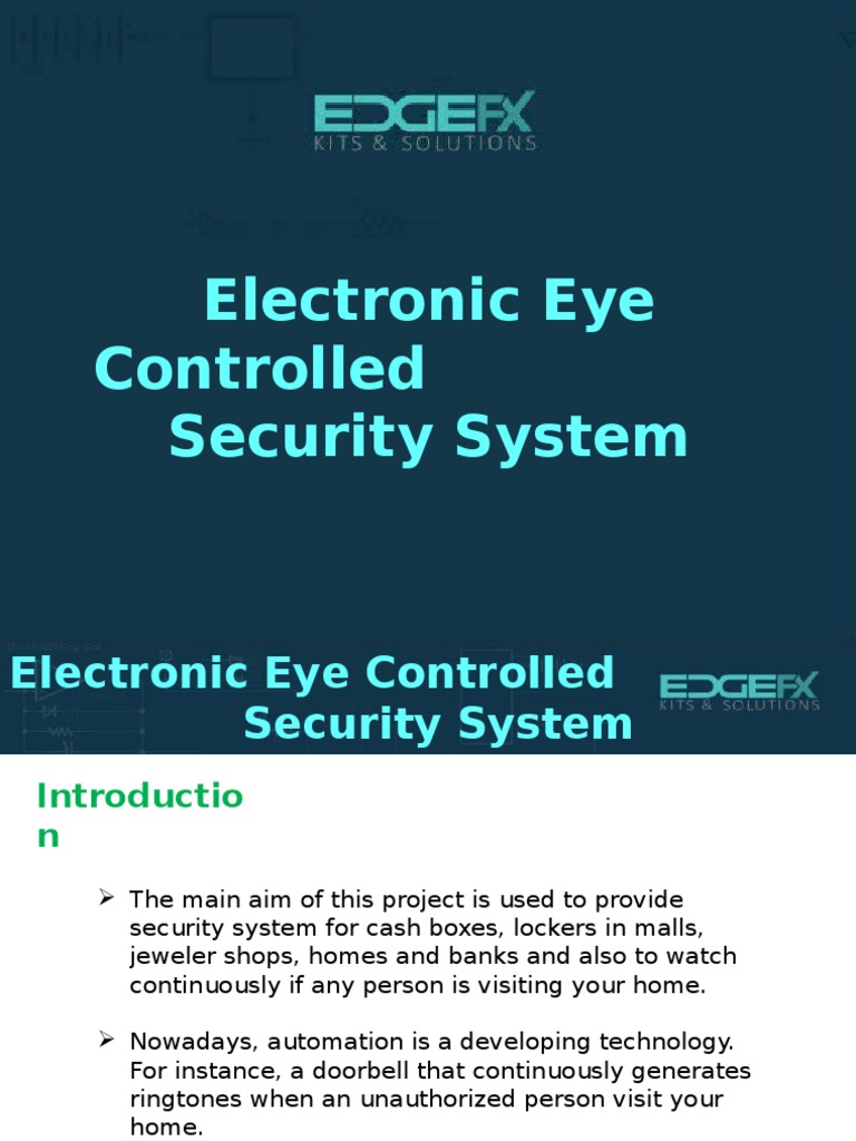 Microcontroller Based Electronic Eye Controlled Security System Door Buzzer Sound With Cd4001 Cd4060 Alarm Electronics