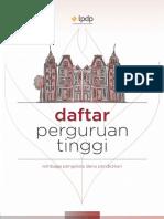 Daftar Perguruan Tinggi Tujuan LPDP Tahun 2017