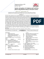 Equilibrium and Kinetics Adsorption of Cadmium and Lead Ions from Aqueous Solution Using Bamboo Based Activated Carbon