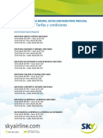 Ofertas Pasajes Sky Airlines