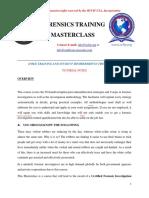 Forensics Training Masterclass Module - 1