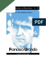 Urondo Francisco - Coleccion Antologica de Poesia Social 77