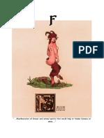 Mythical Creature Alphabet 'F'