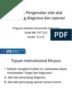 Pengenalan Instrumentasi Diagnostik