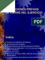 SICALWIN - Actuaciones Previas Al Cierre Del Ejercicio