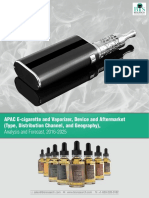 APAC E-Cigarette & Vaporizer, Device & Aftermarket (Type, Distribution Channel, and Geography), - Analysis & Forecast, 2016-2025