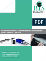 THE European E-Cigarette and Vaporizer Device and Aftermarket - Analysis & Forecast, 2016-2025