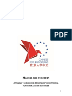 Manual for Teachers Chinese4eu
