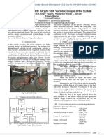 Solar Assisted Electric Bicycle with Variable Torque Drive System