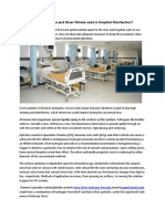 How Hydrogen Peroxide and Silver Nitrate used in Hospital Disinfection?