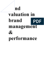 Brand Valuation in Brand Management