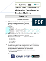 Live Leak - Coal India Limited (ME) 2017 Model Question Paper Based on Predicted Pattern