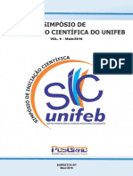 IX Simposio de Iniciacao Cientifica Do UNIFEB
